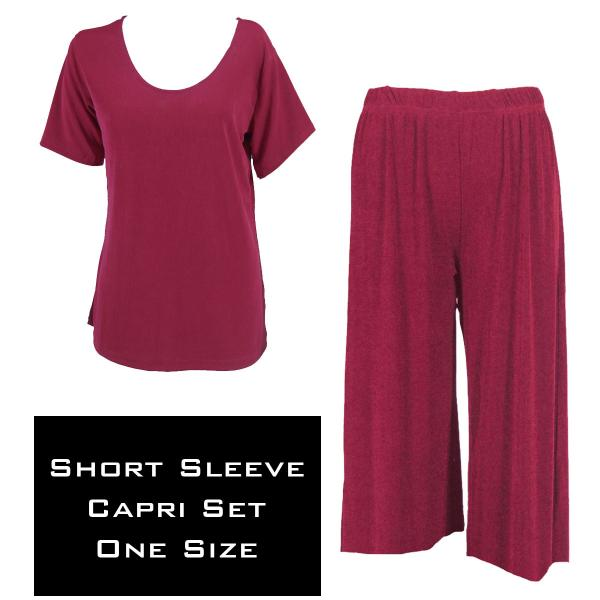 Wholesale Slinky - Short Sleeve Sets SST CABERNET Slinky - Short Sleeve/Capri Set - One Size Fits All