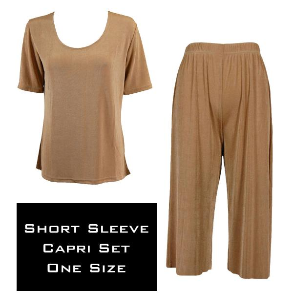 Wholesale Slinky - Short Sleeve Sets SST CHAMPAGNE Slinky - Short Sleeve/Capri Set - One Size Fits All