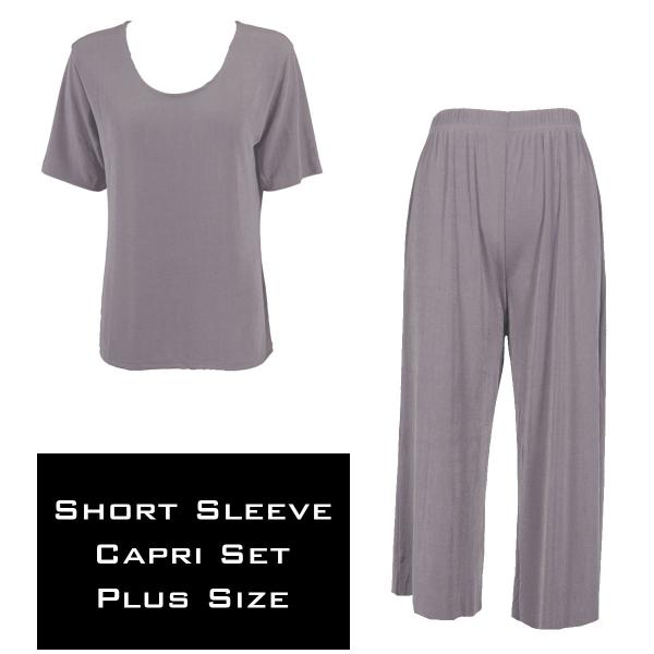 Wholesale Slinky - Short Sleeve Sets SST LAVENDER Slinky - Short Sleeve/Capri Set - Plus Size (XL-2X)