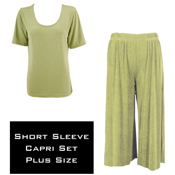 Wholesale Slinky - Short Sleeve Sets SST LEAF GREEN Slinky - Short Sleeve/Capri Set - Plus Size (XL-2X)