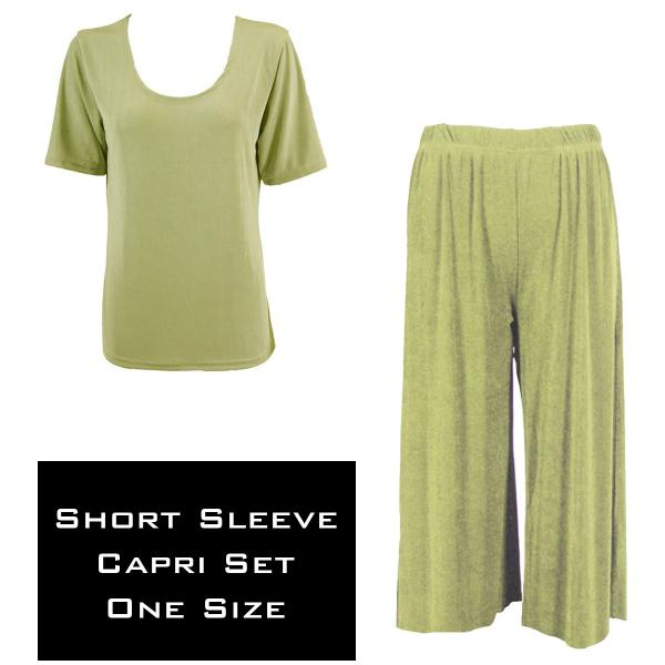 Wholesale Slinky - Short Sleeve Sets SST LEAF GREEN Slinky - Short Sleeve/Capri Set - One Size Fits All