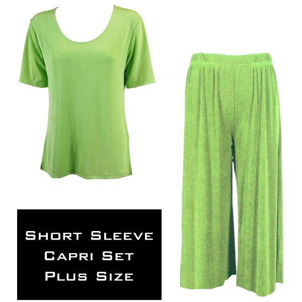 Wholesale Slinky - Short Sleeve Sets SST LIME Slinky - Short Sleeve/Capri Set - Plus Size (XL-2X)