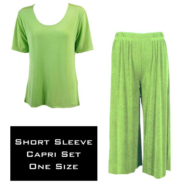 Wholesale Slinky - Short Sleeve Sets SST LIME Slinky - Short Sleeve/Capri Set - One Size Fits All