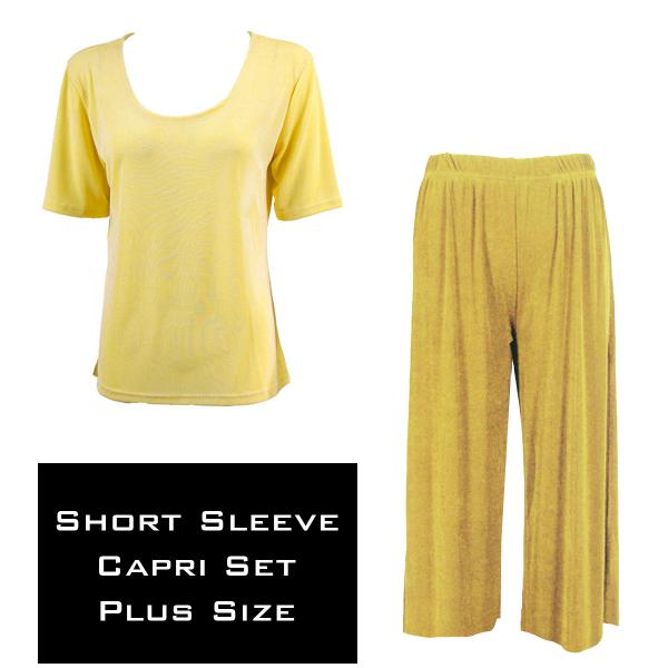Wholesale Slinky - Short Sleeve Sets SST YELLOW Slinky - Short Sleeve/Capri Set - Plus Size (XL-2X)