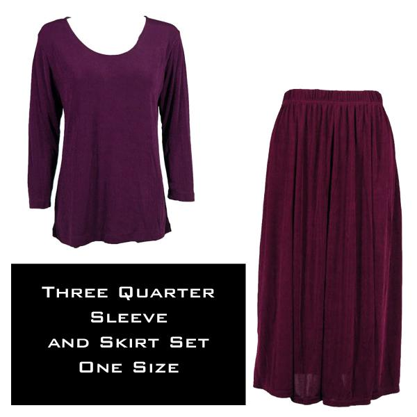Wholesale Slinky Skirt and Top Sets SST PURPLE Slinky Skirt and Top Set - One Size Fits All