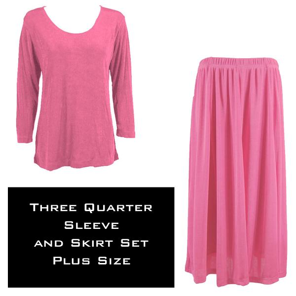 Wholesale Slinky Skirt and Top Sets SST RASPBERRY Slinky Skirt and Top Set - Plus Size (XL-2X)