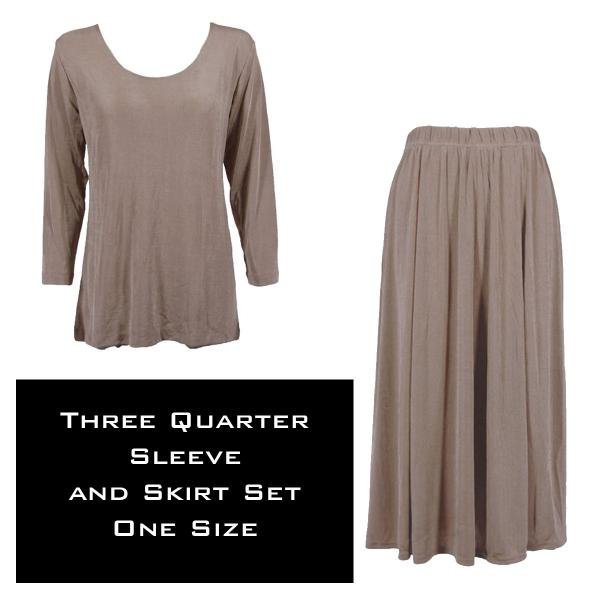 Wholesale Slinky Skirt and Top Sets SST TAUPE Slinky Skirt and Top Set - One Size Fits All