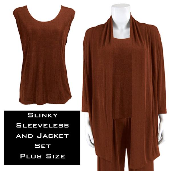 Wholesale Slinky Jacket Set BROWN Slinky Jacket Set - XL-2X