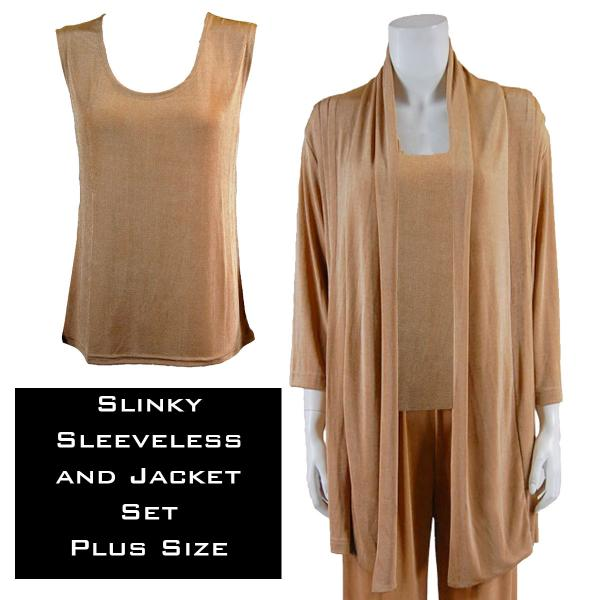 Wholesale Slinky Jacket Set CHAMPAGNE Slinky Jacket Set - XL-2X