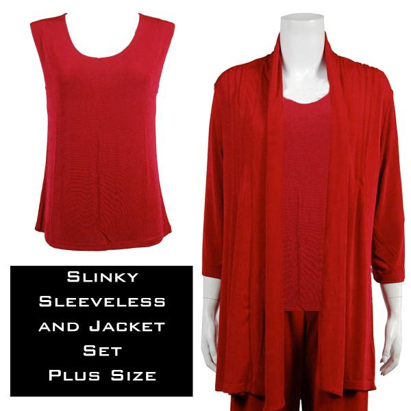 Wholesale Slinky Jacket Set CRANBERRY  Slinky Jacket Set - XL-2X