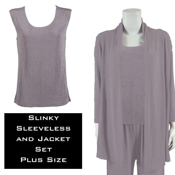 Wholesale Slinky Jacket Set LAVENDER Slinky Jacket Set - XL-2X