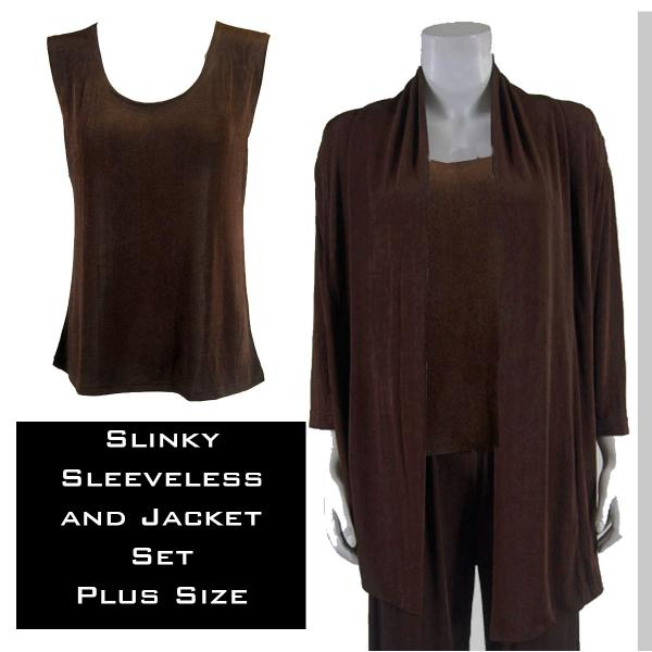 Wholesale Slinky Jacket Set DARK BROWN Slinky Jacket Set - XL-2X