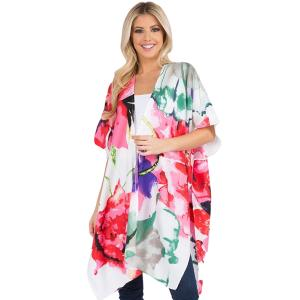 Wholesale  LARGE FLORAL - Kimono - Tropical Print 3106 - One Size Fits All