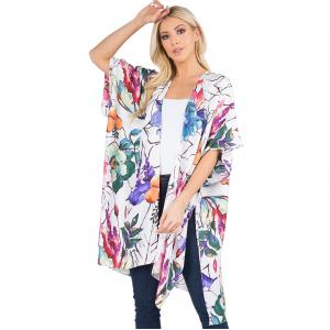 Wholesale  FRUITS AND FLOWERS - Kimono - Tropical Print 3106 - One Size Fits All