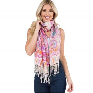 Wholesale  MIXED PAISLEY Scarf Light Wool (902-FS)  -