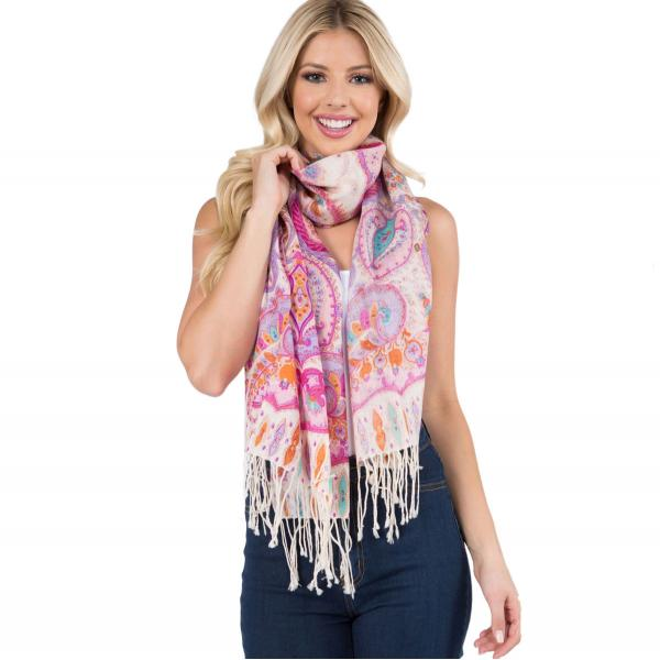 Wholesale Scarf - Paisley Light Wool 902 /904 MIXED PAISLEY Scarf Light Wool (902-FS)  -