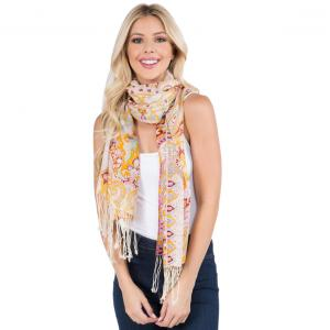 Wholesale  MIXED PAISLEY Scarf Light Wool (904-PK)  -