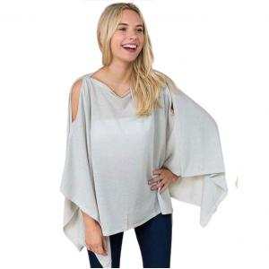 Wholesale  PLATINUM Poncho - Metallic Slinky 3100 -
