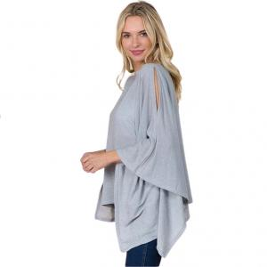 Wholesale  SILVER Poncho - Metallic Slinky 3100 -