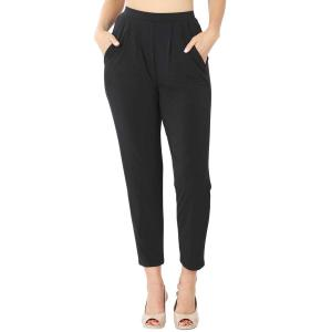 Wholesale  BLACK Ity Pleated Waist Pants w/ Side Pockets 10019 - Large