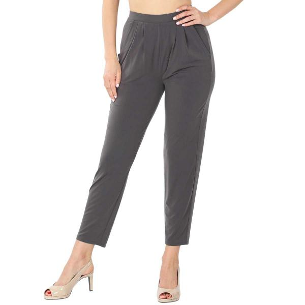 Wholesale Ity Pleated Waist Pants w/ Side Pockets 10019 ASH GREY Ity Pleated Waist Pants w/ Side Pockets 10019 - Small