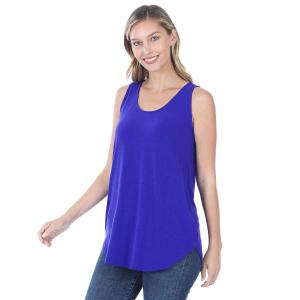 Wholesale  BRIGHT BLUE Sleeveless Round Hem Top 2100 - Large