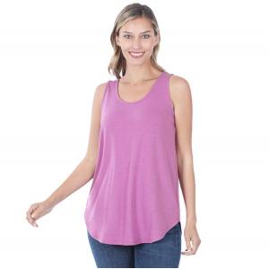 Wholesale  DARK MAUVE Sleeveless Round Hem Top 2100 - Large