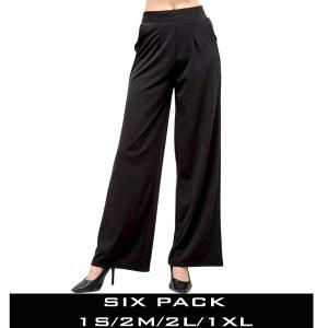 Wholesale  BLACK SIX PACK Wide Leg Pants DP02 (1S/2M/2L/1XL) - 1 Small, 2 Medium, 2 Large, 1 Extra Large