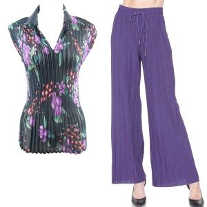 Wholesale  Black Purple Floral - ONE SIZE FITS (S-L)