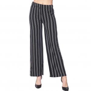 Wholesale  BLACK AND WHITE Pants - Striped 1926 - 1X-2X