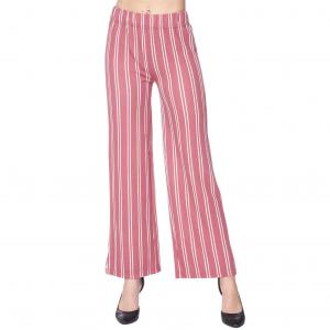 Pants - Striped 1926 MAUVE AND WHITE Pants - Striped 1926 - S-M