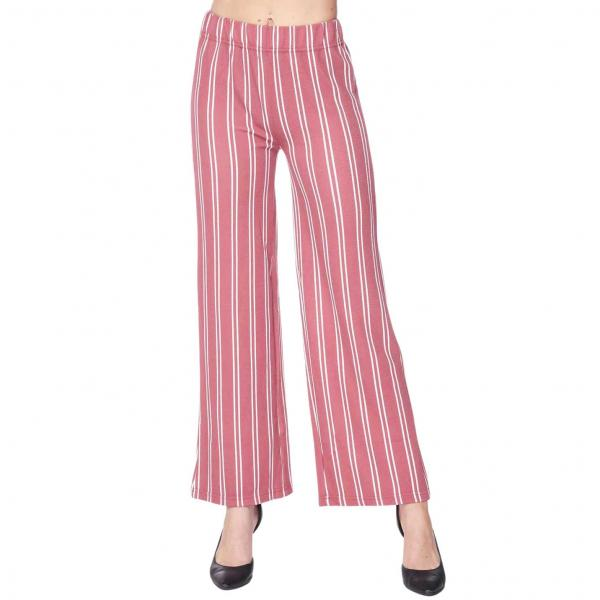 Wholesale Pants - Striped 1926 MAUVE AND WHITE Pants - Striped 1926 - S-M