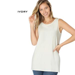 Wholesale  IVORY Sleeveless Side Slit Top - 10030 - Small