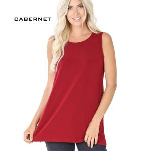 Wholesale  CABERNET Sleeveless Side Slit Top - 10030 - Small