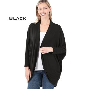 Wholesale  BLACK Cocoon Wrap Cardigan 1819 - Small