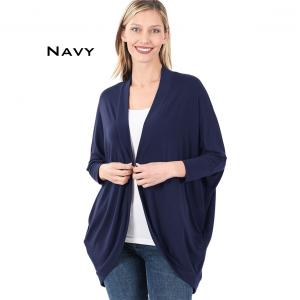 Wholesale  NAVY Cocoon Wrap Cardigan 1819 - Large