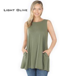 Wholesale  LIGHT OLIVE Flared Top with Pockets - 1630 - Medium