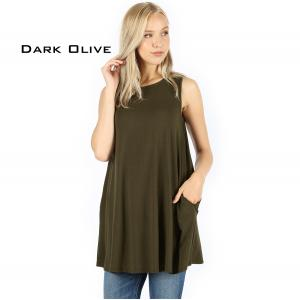 Wholesale  DARK OLIVE Flared Top with Pockets - 1630 - Medium