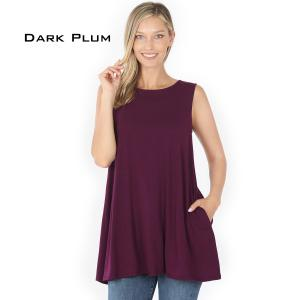 Wholesale  DARK PLUM Flared Top with Pockets - 1630 - Large