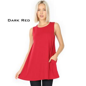 Wholesale  DARK RED Flared Top with Pockets - 1630 - Large
