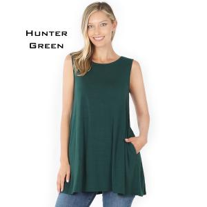 Wholesale  HUNTER GREEN Flared Top with Pockets - 1630 - Medium