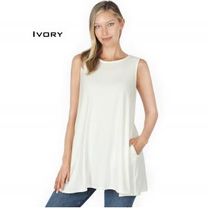 Wholesale  IVORY Flared Top with Pockets - 1630 - Medium
