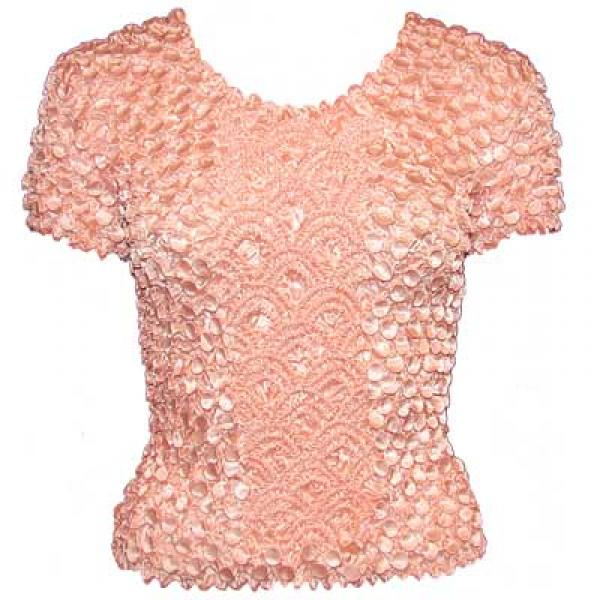 wholesale Coin Fishscale - Short Sleeve Pale Coral - One Size (S-XL)