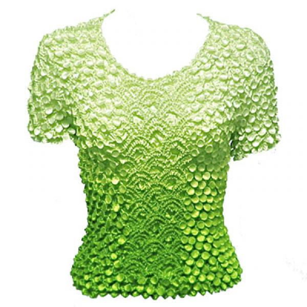 wholesale Coin Fishscale - Short Sleeve Variegated Leaf Green - One Size (S-XL)