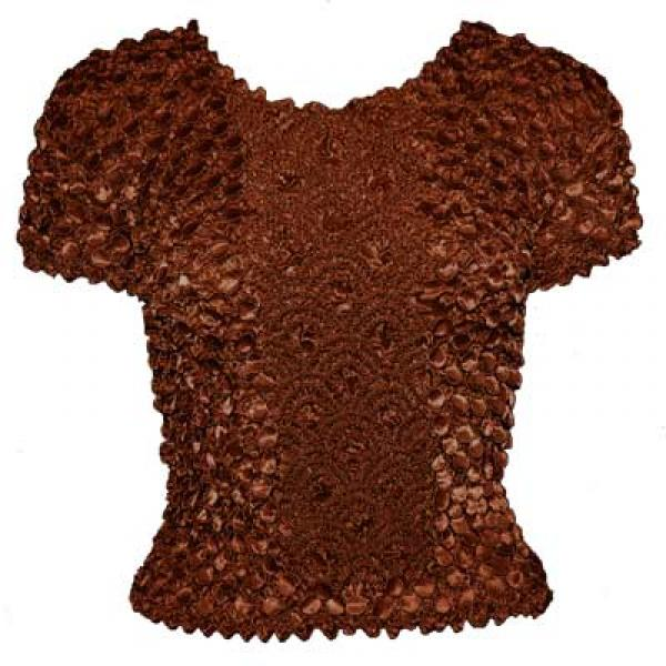 wholesale Coin Fishscale - Short Sleeve Chestnut - One Size (S-XL)