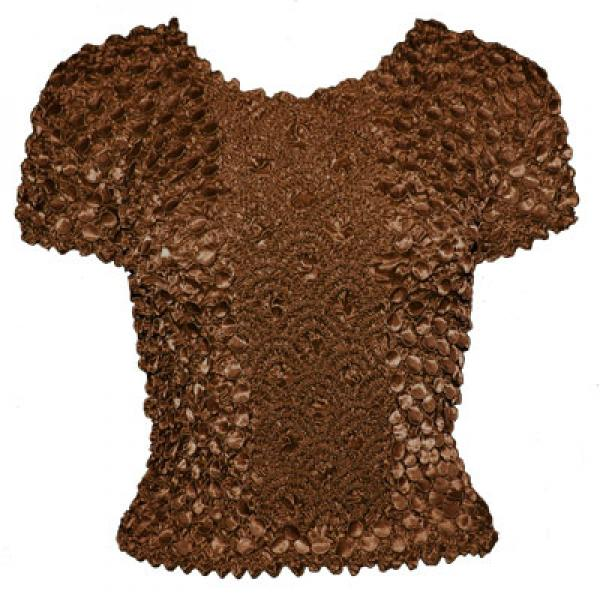 wholesale Coin Fishscale - Short Sleeve Brown Queen Size - Queen Size Fits (XL-3X)