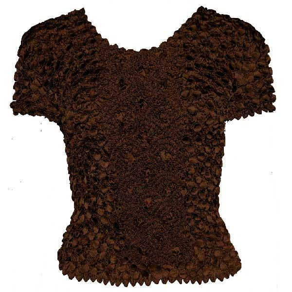wholesale Coin Fishscale - Short Sleeve Dark Chocolate Queen Size - Queen Size Fits (XL-3X)
