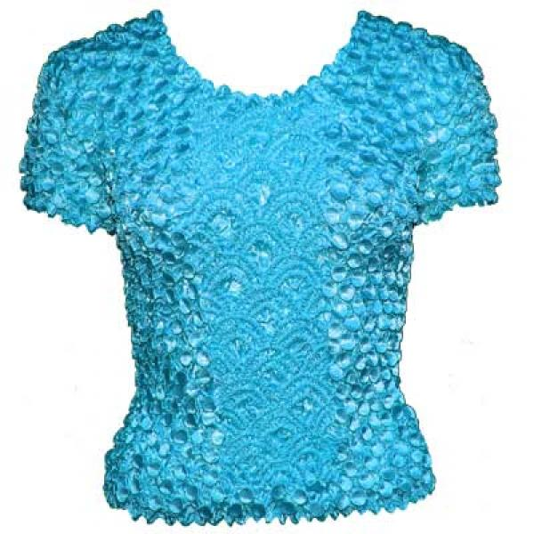 wholesale Coin Fishscale - Short Sleeve Turquoise Queen Size - Queen Size Fits (XL-3X)