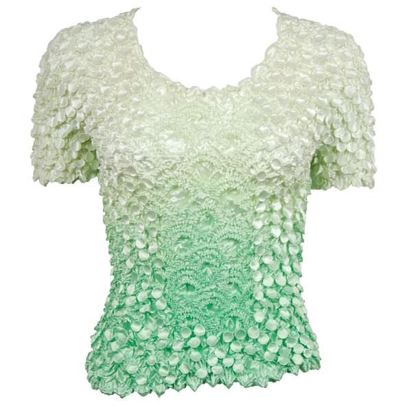 wholesale Coin Fishscale - Short Sleeve Variegated Mint - One Size (S-XL)