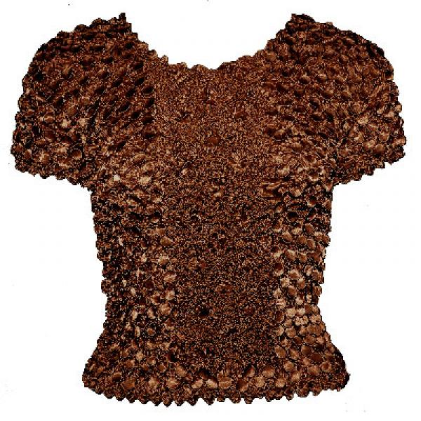 wholesale Coin Fishscale - Short Sleeve Brown - One Size (S-XL)